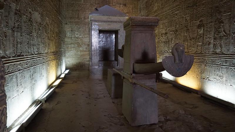 Temple of Horus in Edfu, Nile River, Egypt.
