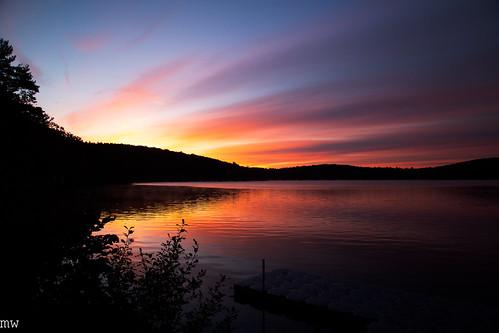 fall dublin lake new hampshire sunrise morning calm england long exposure