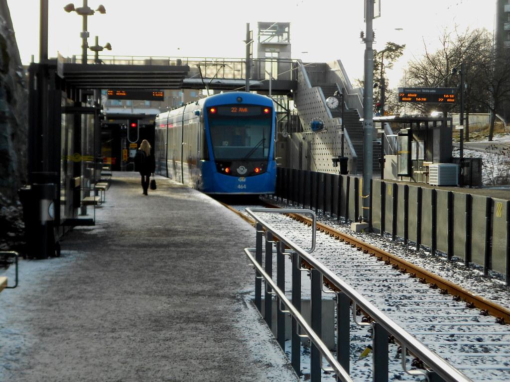 Район Solna. Трамвай.