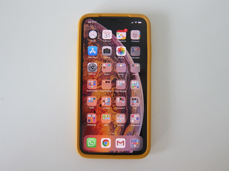 OtterBox Symmetry (Aspen Gleam) for iPhone XS Max - Front