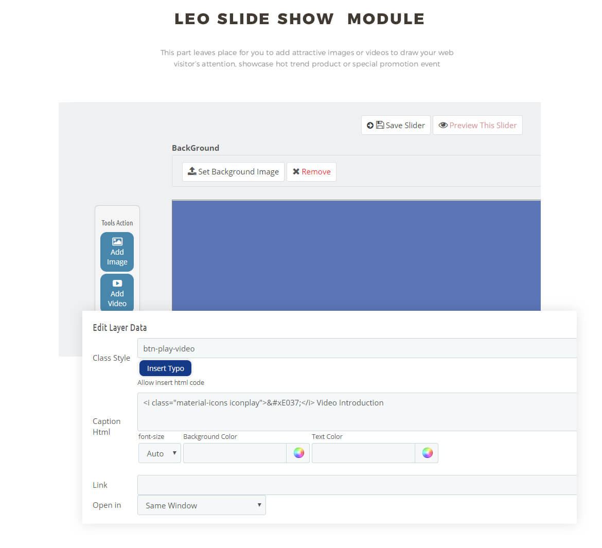 slideshow module - fashion online store