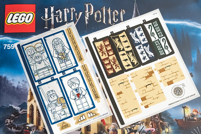 REVIEW LEGO Harry Potter 75954 Hogwarts Great Hall stickers