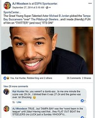 #AJWoodson #SpringfieldIL #tbt #MichaelBJordan #BlackPanther #FruitvaleStation #Creed #NFL #Football #Sportscenter #ESPN  #FriendlyWager #Bucs over #Steelers  4 Years Ago Today, I Lost a @sportscenter #Bet (20 PushUps) to  Super-Talented @michaelbjordan .