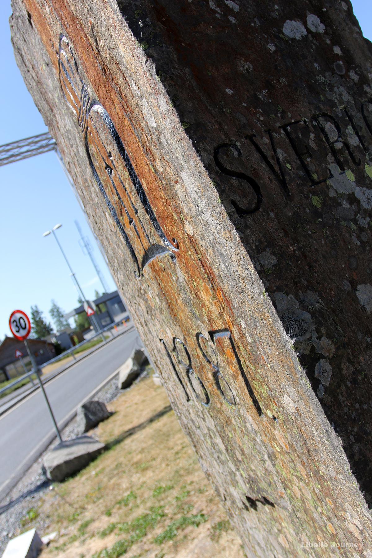 Historical border between Norway and Sweden
