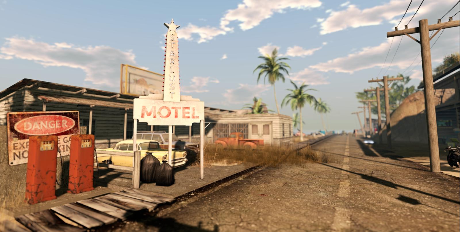 The motel at Aloha Beach