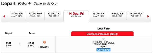 AirAsia Seat Sale Cebu to Cagayan De Oro