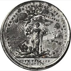 1783 Treaty of Paris Medal obverse