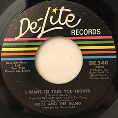 KOOL & THE GANG:I WANT TO TAKE YOU HIGHER(LABEL SIDE-A)