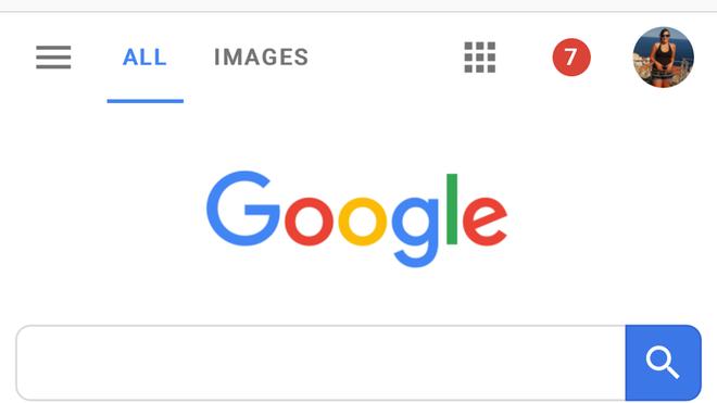 Google lần đầu tiên thay đổi giao diện trang chủ trên mobile