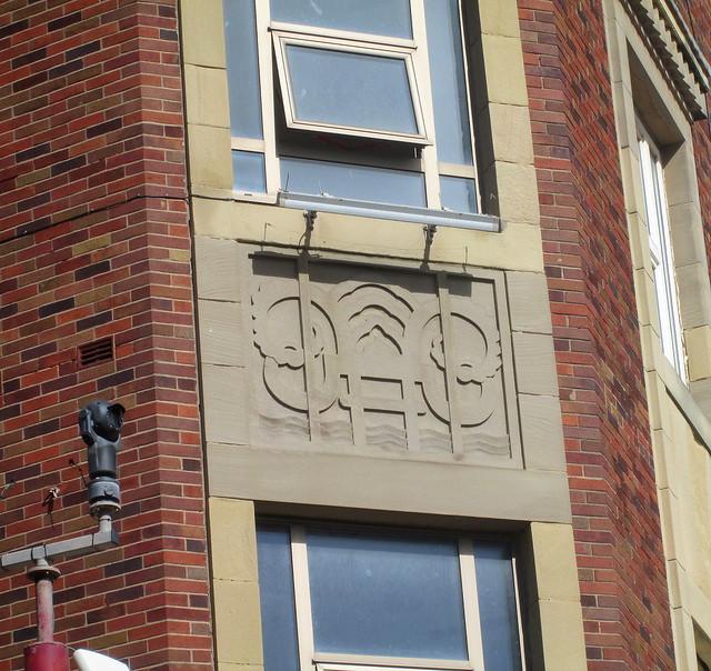Art Deco Cartouche on Corner Block