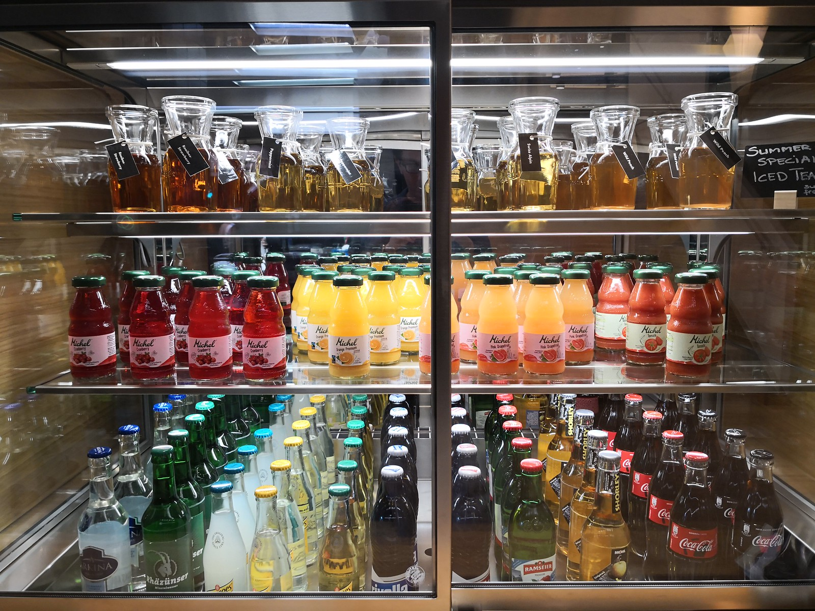 Soft drinks and juices
