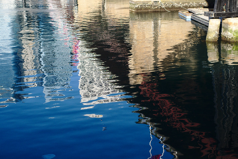 Pyrmont Bridge, reflected