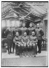 Sgt. J.M. Biedenback, Sgt. V.C. Hoffman, Sgt. M.J. Beale, Sgt. H.A. Chapman, Sgt. R.C. McNally, Lt. W.J. Reed, Maj. J.G. Thornell, Capt. Dale Mabry (LOC)