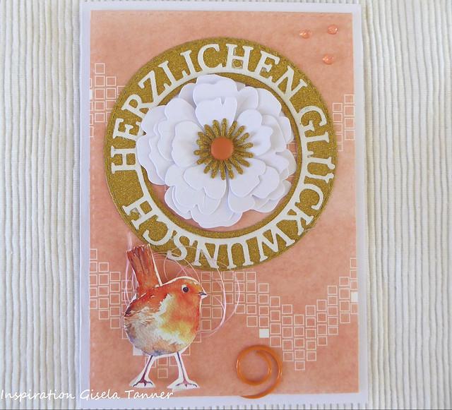 Geburtstagskarte mit Blume