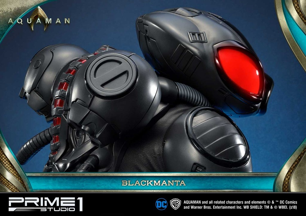 黑蝠鱝!超魄力的備戰姿態,水行俠宿敵威壓現身! Prime 1 Studio《水行俠》黑蝠鱝 ブラックマンタ MMAM-02EX 1/3 比例全身雕像作品