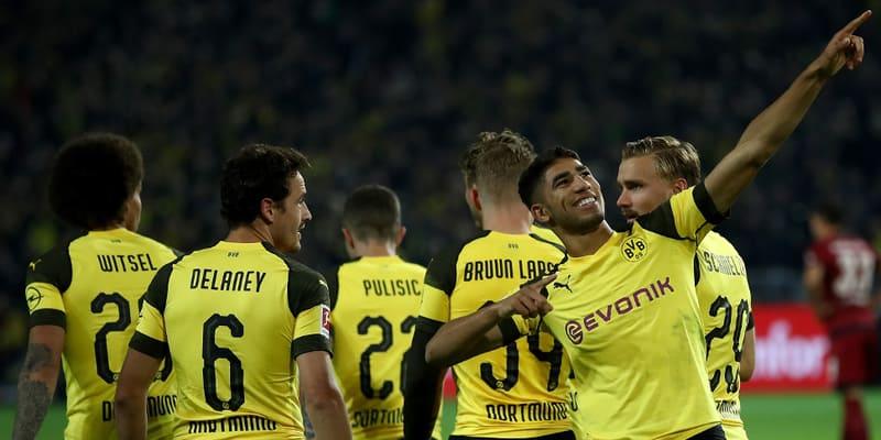 Achraf Hakimi menikmati debutnya di Bundesliga