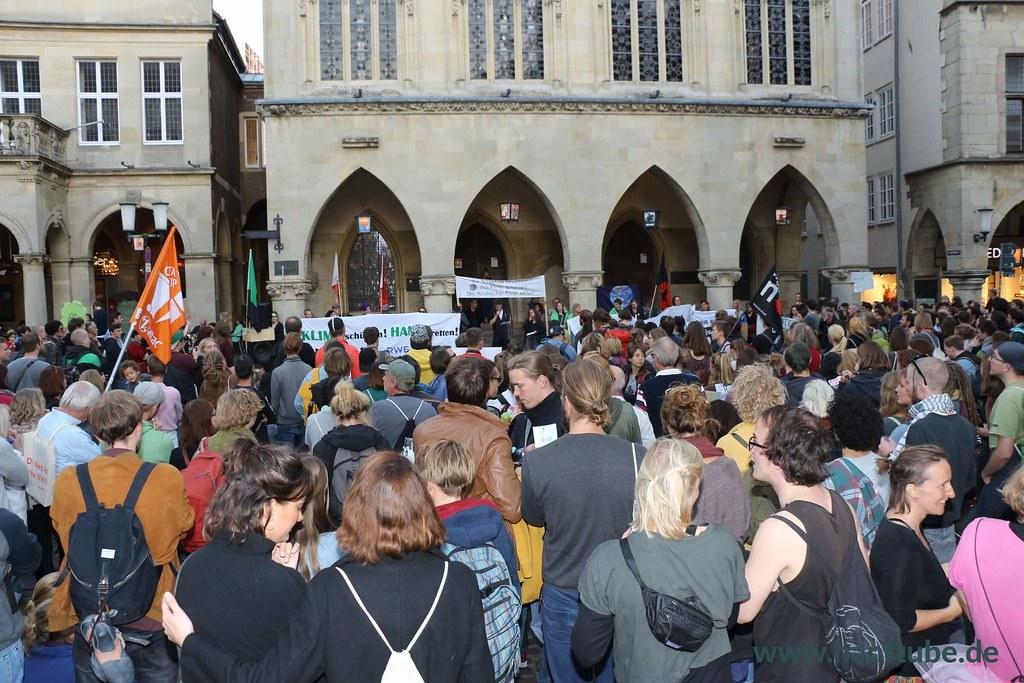 Volle Abschlusskundgebung der Hambi retten Demo Münster
