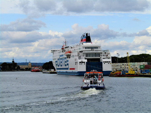 ferry boat of Polferries on the Motława River in Gdansk