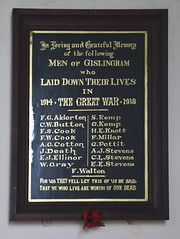 Men of Gislingham who laid down their lives in the Great War