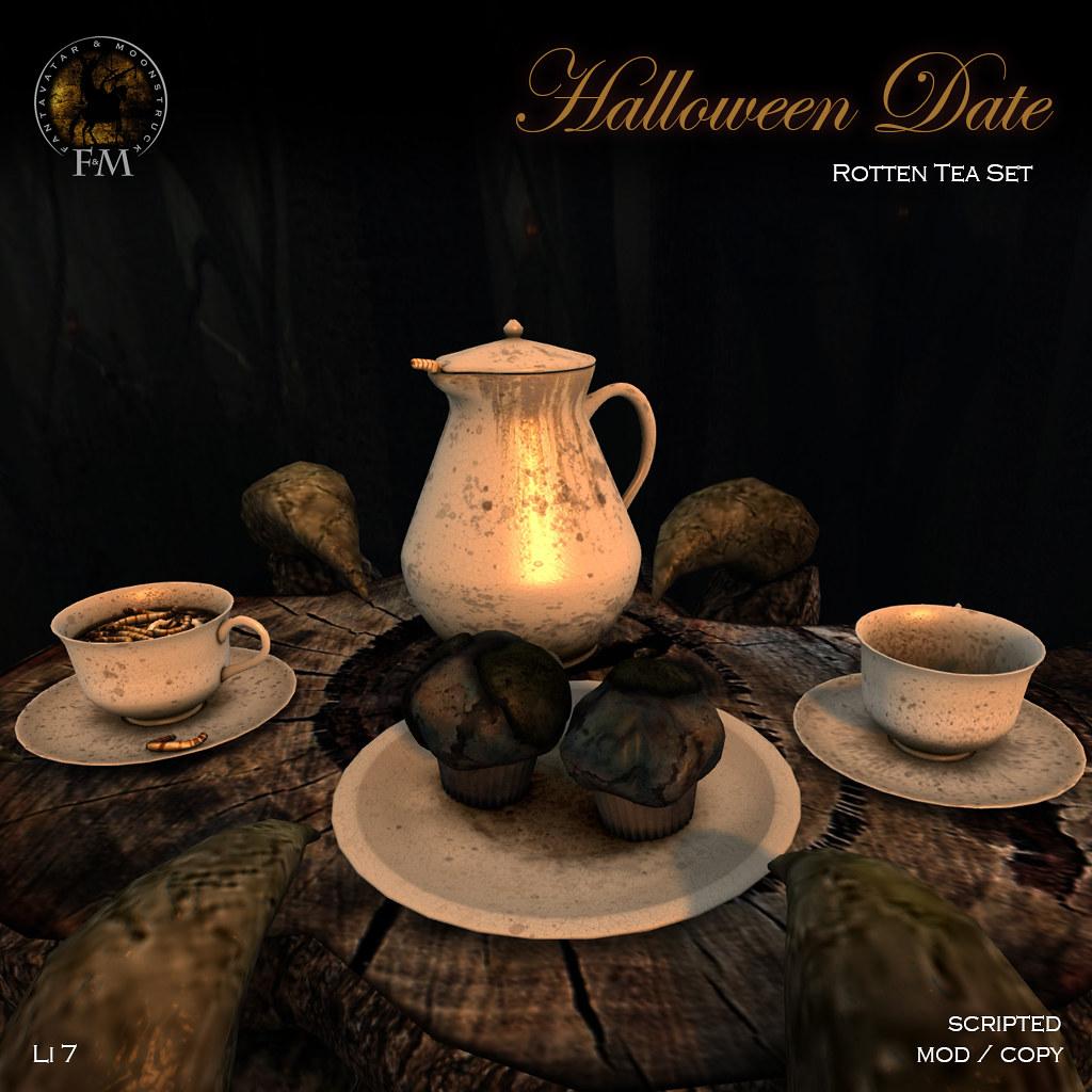 F&M * Halloween Date * Rotten Tea Set - TeleportHub.com Live!