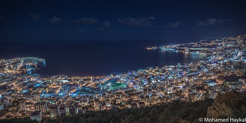 keserwandistrict mountlebanongovernorate lebanon lb hasselblad x1d xcd 21 mohamed haykal bay jounieh grader kaslik casino liban keserwan district mount governorate sarba beirut highway photography nightshot outdoor colour mediterranean sea bkerki seaside road illumination city sky building water