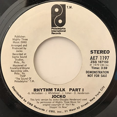 JOCKO:RHYTHM TALK(LABEL SIDE-A)
