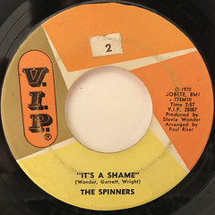 THE SPINNERS:IT'S A SHAME(LABEL SIDE-A)