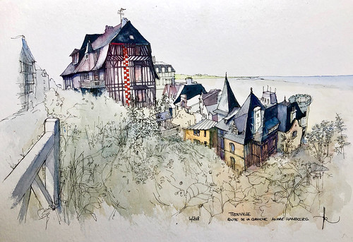 TROUVILLE route de la corniche André Hambourg