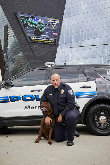 Thank you to K-9 Rusty for your service to Metro Transit