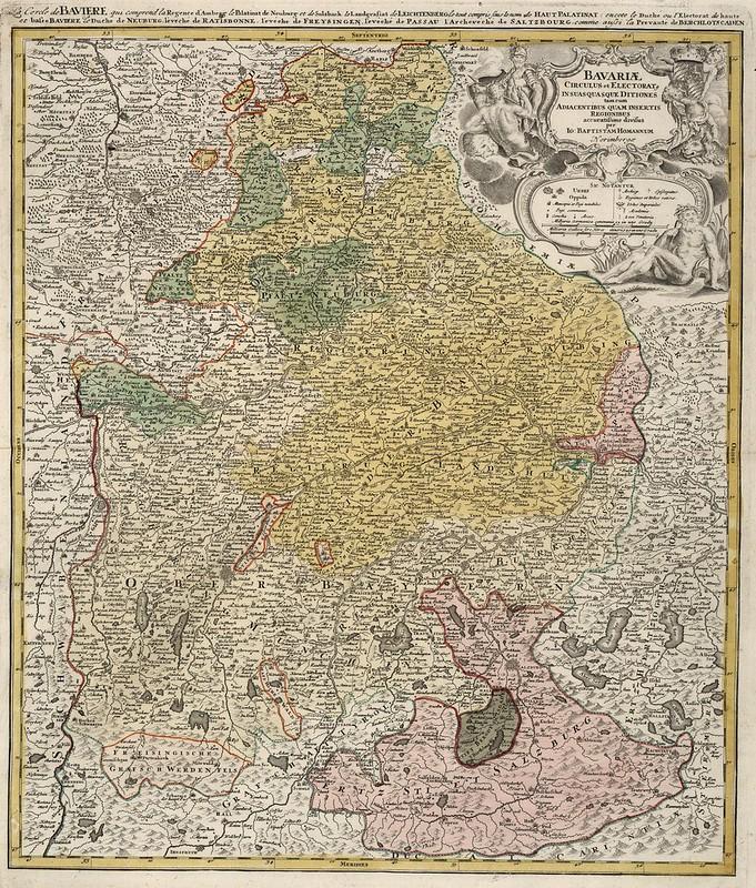 Johann Baptist Homann - Bavariae (1752)