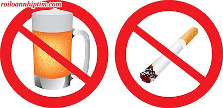 Không sử dụng rượu, thuốc lá để kiểm soát ngoại tâm thu