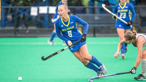 In final non conference game Delaware field hockey shuts out Penn 2-0