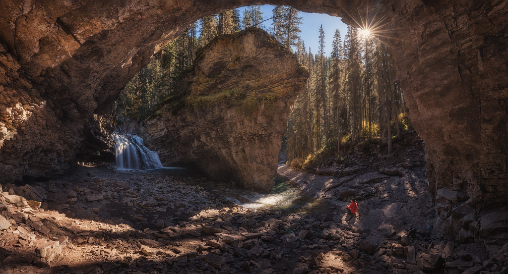 AV10 AV03 Juliocastro (Canadá) - Espectaculo Natural - Tomada en Cañon Jonhston, Parque Nacional de Banff (Canadá) el 02-10-2017
