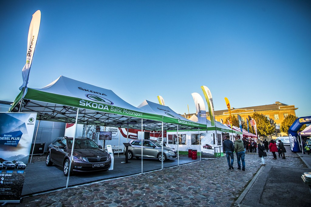 service park, during the 2018 European Rally Championship ERC Liepaja rally,  from october 12 to 14, at Liepaja, Lettonie - Photo Gregory Lenormand / DPPI