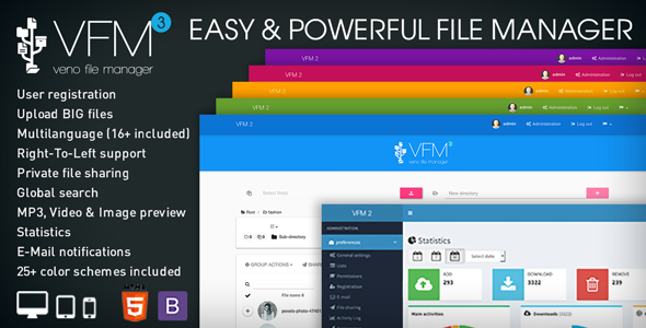 Veno File Manager v3.4.7 - host and share files