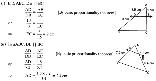 NCERT Solutions for Class 10 Maths Chapter 6 Triangles Ex