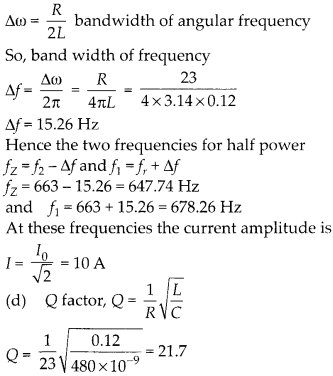 NCERT Solutions for Class 12 Physics Chapter 7 Alternating Current 52