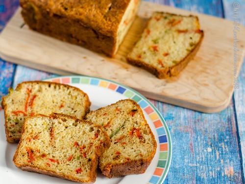 Herzhafter Kuchen mit Paprikastreifen (1)
