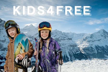 Děti lyžují ve Švýcarsku zdarma!
