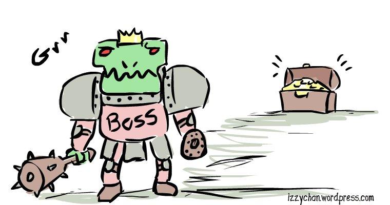 ghoul boss gold chest drawlloween