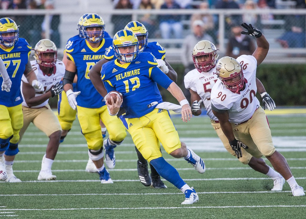 """It was a great play"": Kehoe and the Blue Hens sidestep Elon"