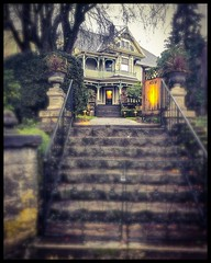 The John Palmer house, N Mississippi Av at N Skidmore St, on a rainy Portland Sunday. #johnpalmerhouse