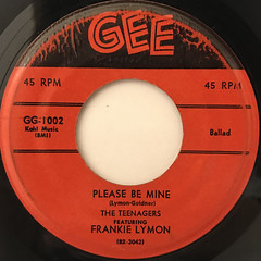 THE TEENAGERS FEATURING FRANKIE LYMON:WHY DO FOOLS FALL IN LOVE(LABEL SIDE-B)