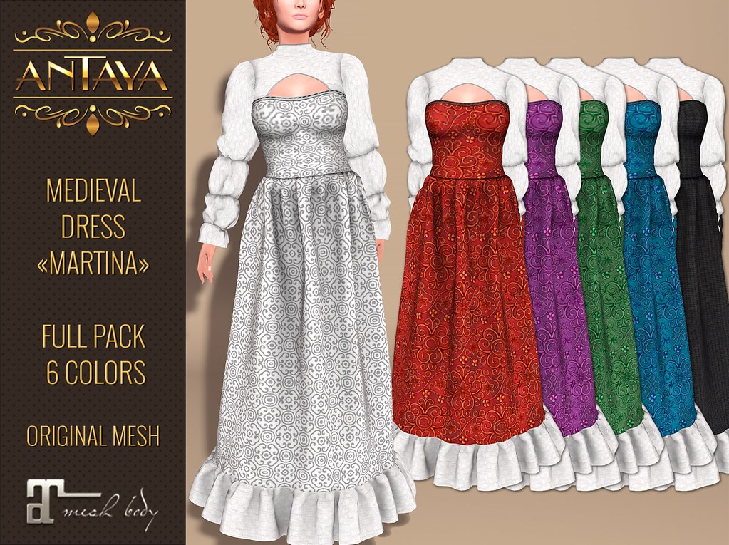 "Medieval dress ""Martina"" FULL PACK - TeleportHub.com Live!"