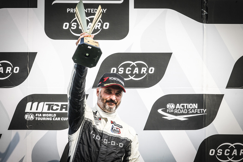 MULLER Yvan, (fra), Hyundai i30 N TCR team Yvan Muller Racing, portrait podium winner race 2 during the 2018 FIA WTCR World Touring Car cup of China, at Ningbo  from September 28 to 30 - Photo Jean Michel Le Meur / DPPI