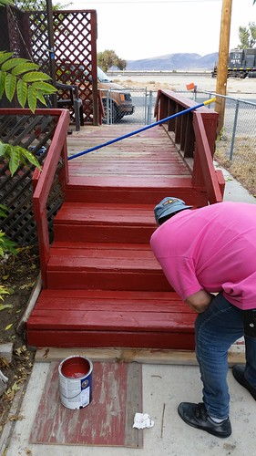 South Steps Repainted