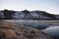 Early Morning Fog on Madison River - Yellowstone