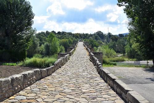 Puente románico de Capella (Aragón, España, 2-9-2018)