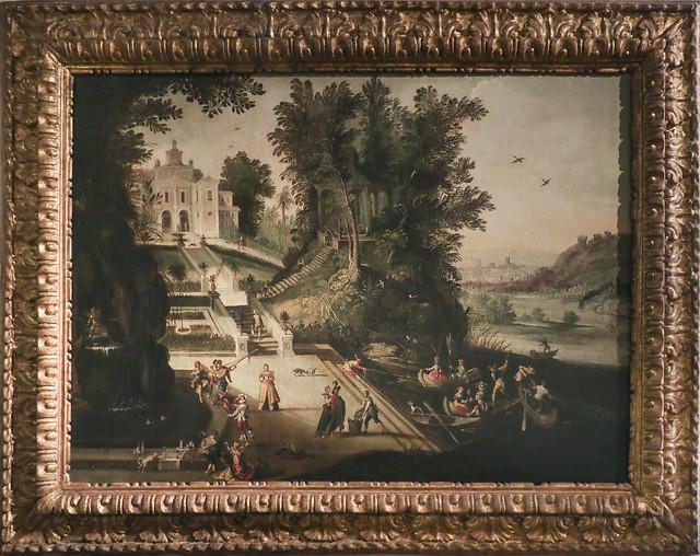 Venduta di una villa presso un fiume, Lodewijk Toeput detto Lodovico Pozzoserrato, Antwerp 1500- Trevisco 1605