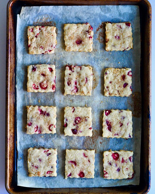 cranberry five-spice cookies